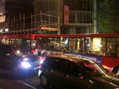 Red bus full of confiscated bicycles (Credit @indyrikki)