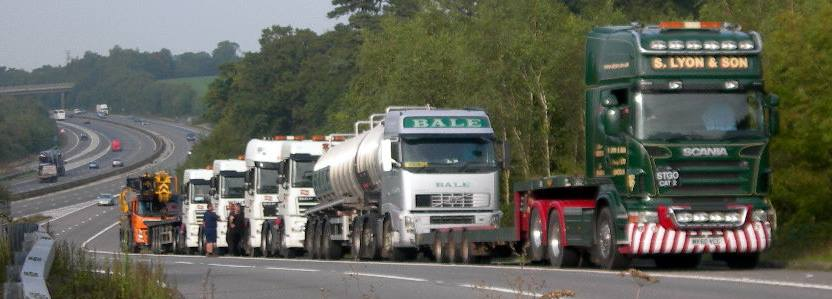 Lorries taking equipment from Cuadrilla site. Where will it go next?