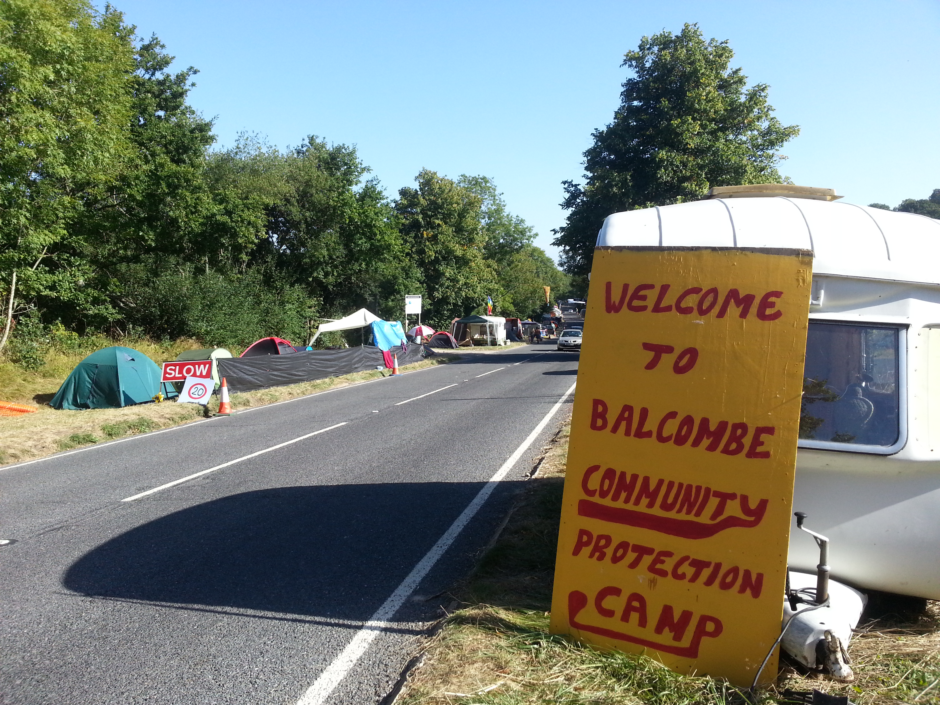 Welcome to Balcombe Community Protection Camp.