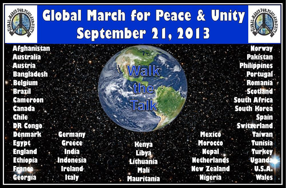 Global March. Participants by country.
