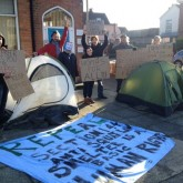 Mike Freer MP front yard occupied come support