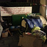 Small camp after eviction
