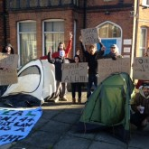 Occupiers Protesting against Section 144 and homelessness.
