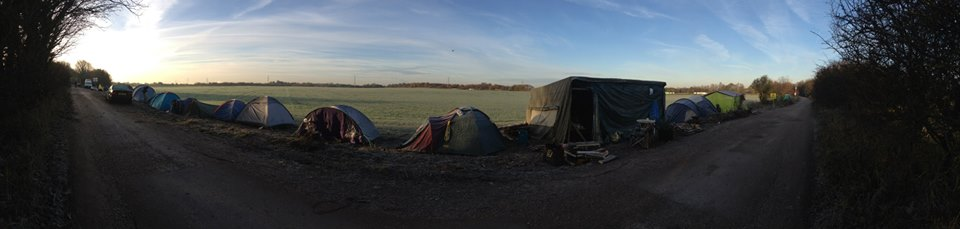 Barton Moss Protection Camp. By Anna B.