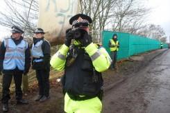 Evidence Gatherer taking photos of peaceful protestors