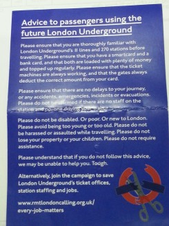 Save the Tube postcard 1