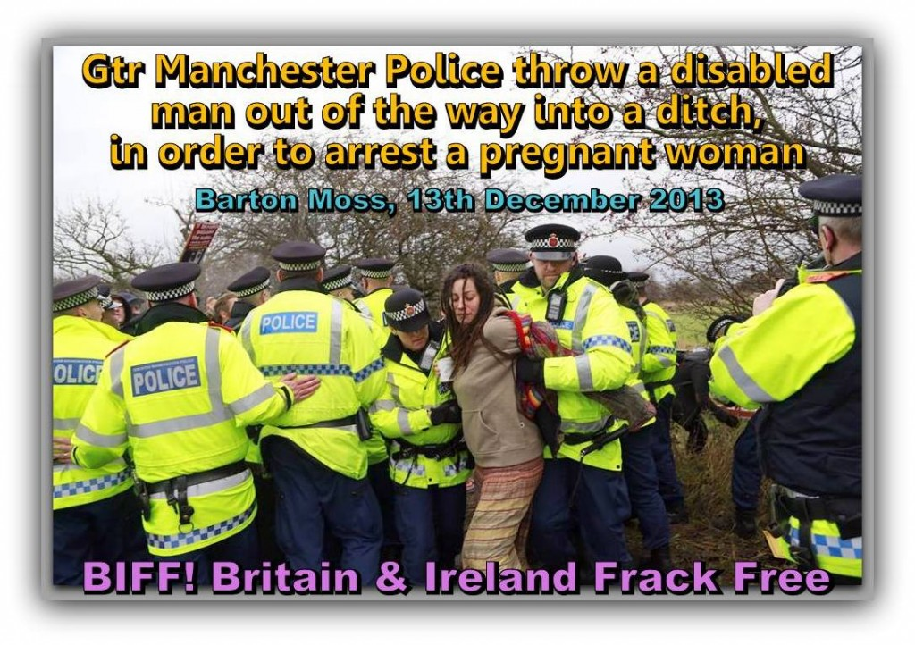 Manchester Police arrest pregnant woman.