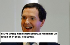Osborne Deficit at £185Billion