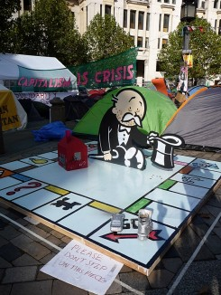 Monopoly board at olsx camp