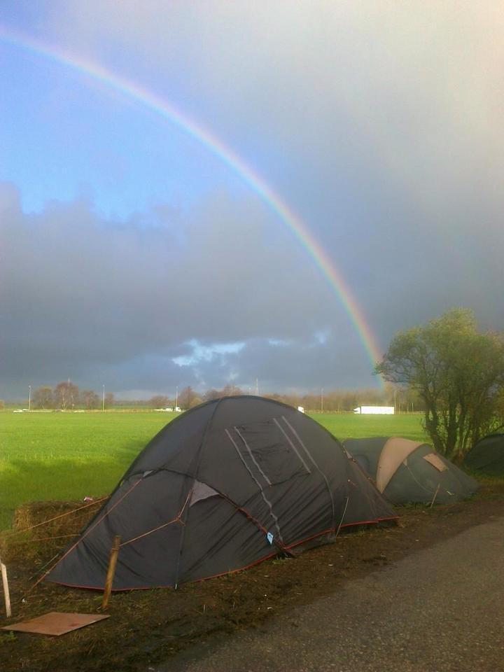 Rainbow over Barton Moss by Tammy Samede