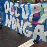 Occupy Wonga Banner. Mayday Parade.