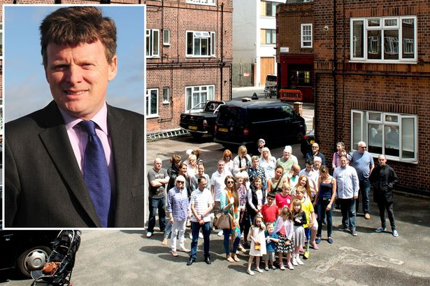 Fight: Richard Benyon and a community furious over rent hikes. Photo via Daily Mirror