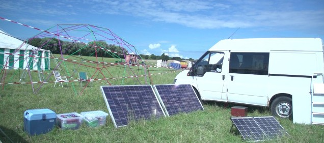 Solar panels were spread throughout the camp although there were nights when the wind turbine provided all the lighting and electronic power required.