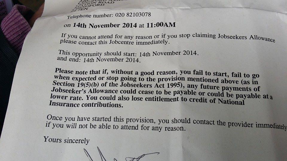 DWP Letter