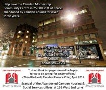 Camden Mothership Campaigners Hope for Christmas Dinner in the Housing Office
