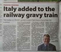 Italy added to the Railway Gravy Train