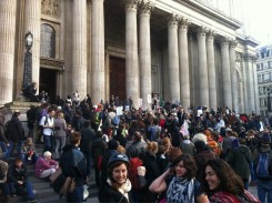 Hundreds turn out for Occupy London's first birthday
