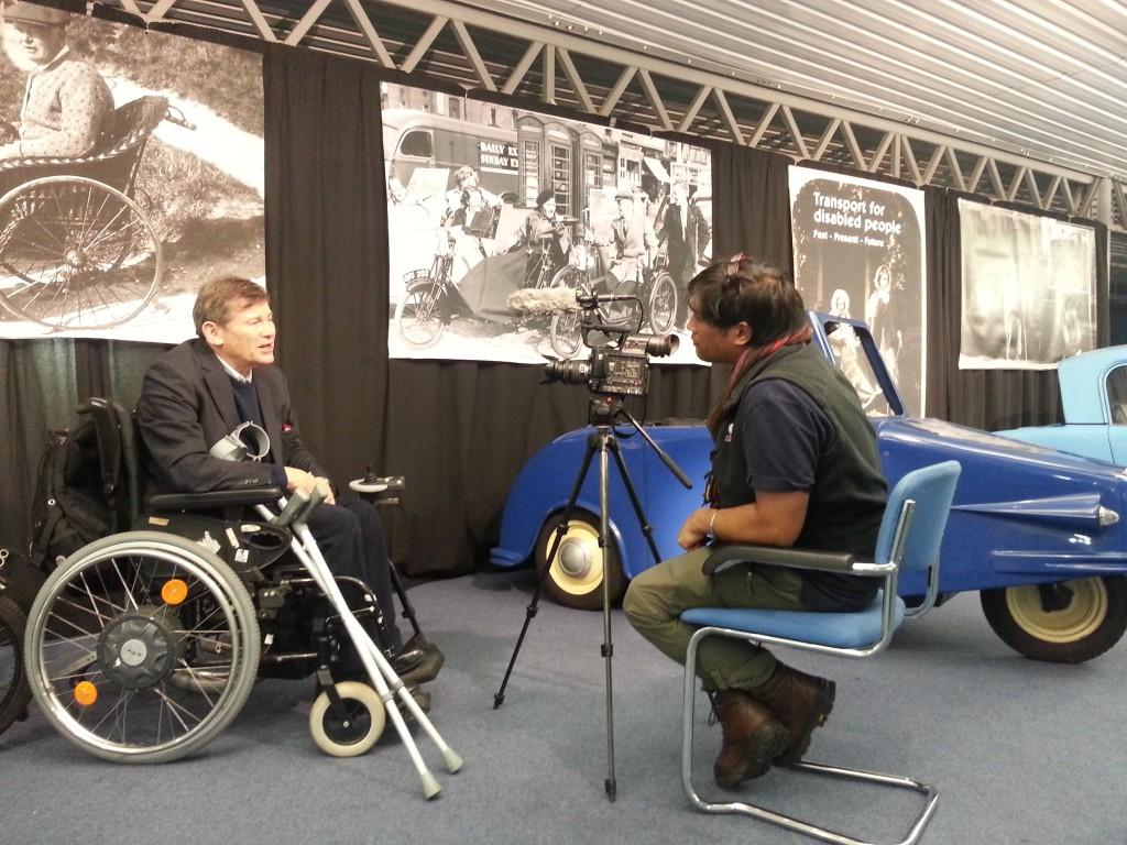 Richard Reiser being interviewed