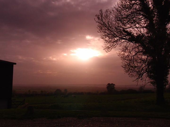 Sunset at Wartling, East Sussex
