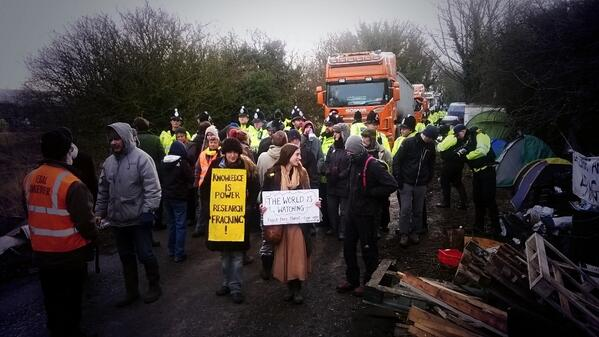 Great turnout today from our lovely supporters! Photo: #bartonmoss #fracking