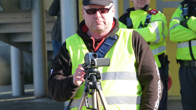 EDL take video footage of anti-fascists and upload stills to Redwatch.