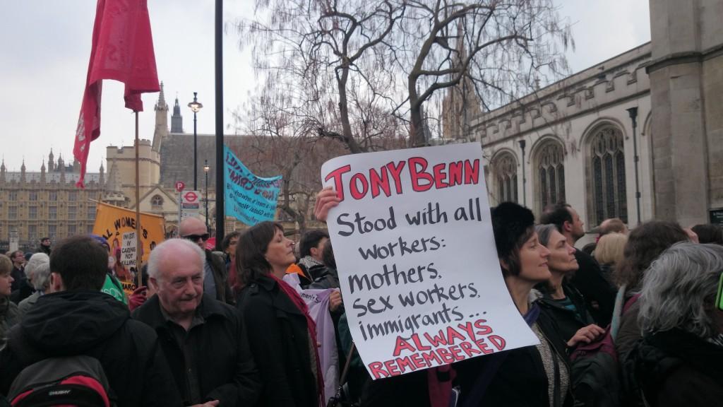 Tony Benn's Funeral. #TurnOutforTony. Photo by: Obi_Live