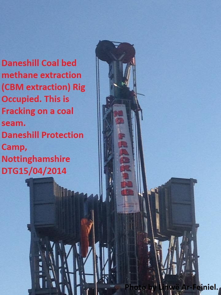 Daneshill Fracking Rig Occupied. Photo by Linwë Ar-Feiniel