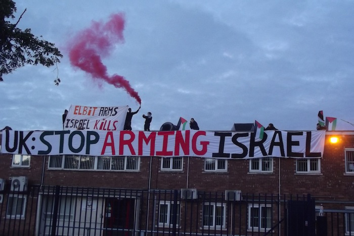 Protesters call for an arms embargo and for the UK to stop arming Israel copy