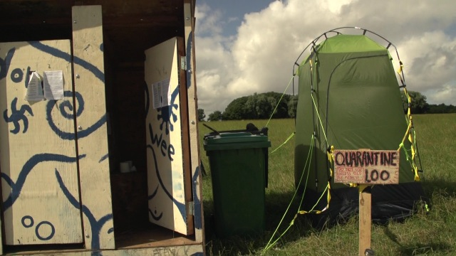 Last but not least the quarantee loo in case someone caught a bug so that it would not spread throughout the camp.